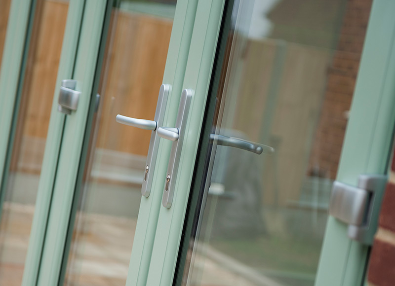 Make your coloured French Doors stand-out...
