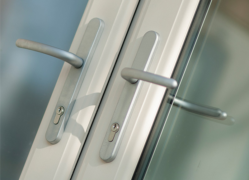 French Doors feature a reliable set of locks and hinges...